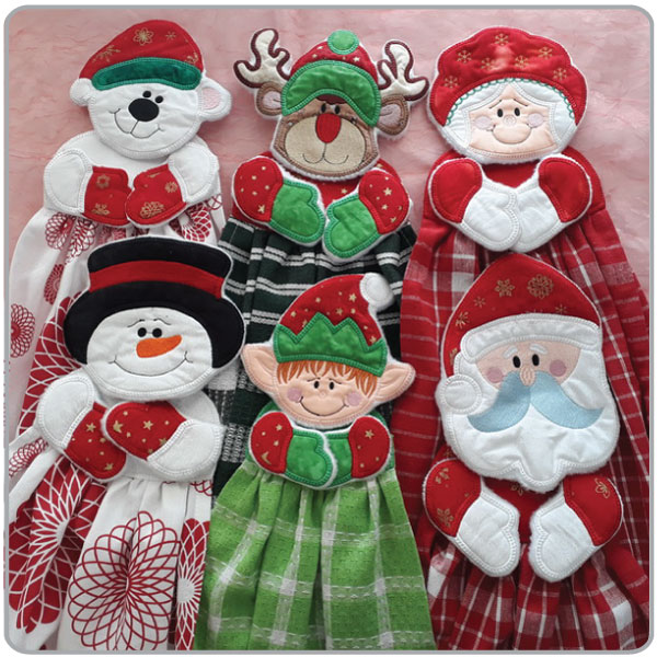 ITH Christmas Towel Toppers - Embroidery Weekly