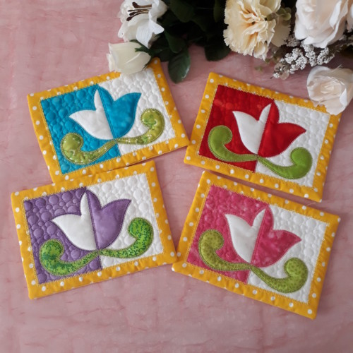 ITH Quilted Spring Mug Rugs