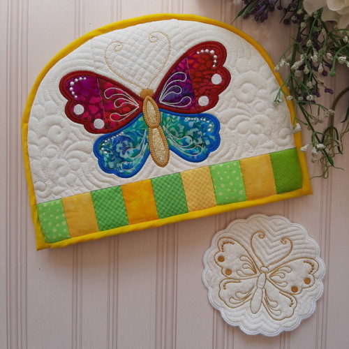 IHQ Butterfly Tea-cosy and Trivet