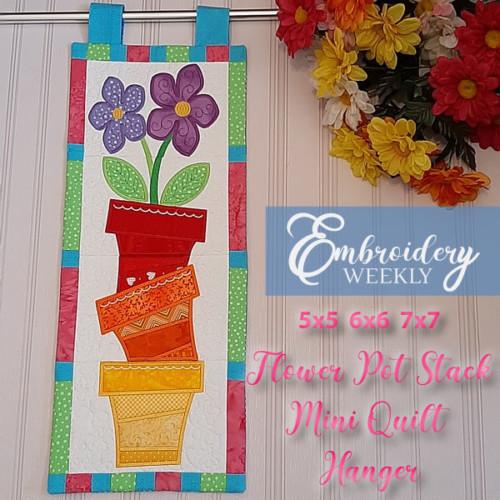 EW247 - Flower Pot Stack Mini Quilt